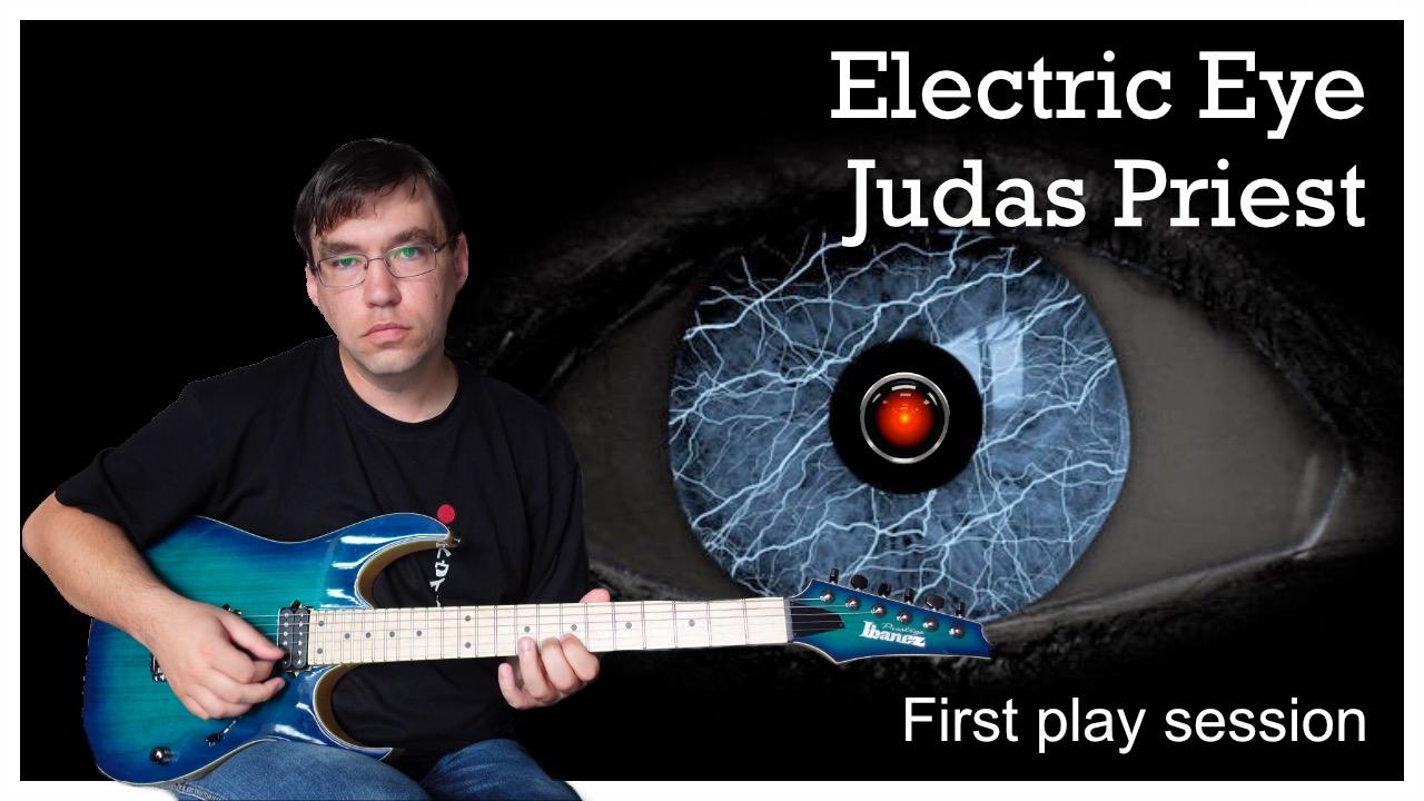 guitar cover electric eye judas priest